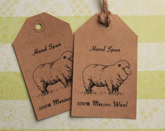 Merino Wool Tags for Hand Spun Yarn -Printable PDF