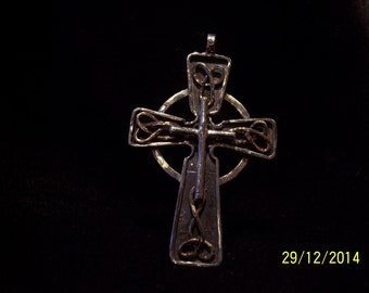 Solid Sterling and Bronze Celtic Cross.