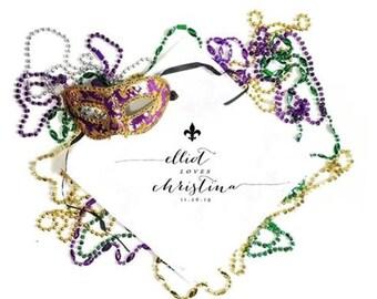 Second Line Handkerchiefs - Fleur de lis - New Orleans Wedding - Personalize - Custom Printed Handkerchiefs - Wedding Parade