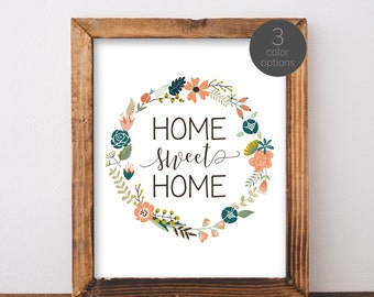 Digital Download Home Sweet Home Printable 5x7 and 8x10