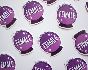 Future is Female Sticker
