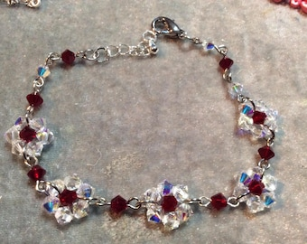 Swarovski beaded bracelet