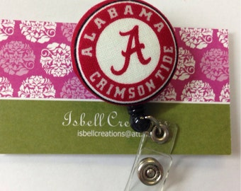 Alabama Crimson Tide Retractable Badge Reel