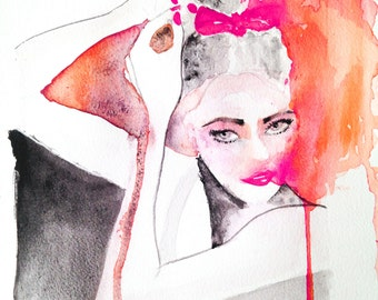 """Print from original watercolor painting 'The Dancer"""""""