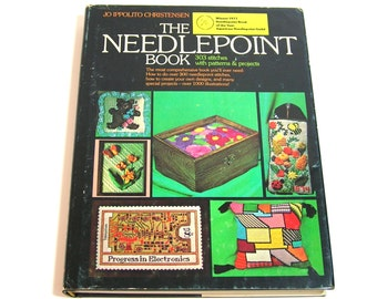 The Needlepoint Book By Jo Ippolito Christensen, Vintage Book