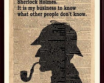 Sherlock Holmes Art, Sherlock Quote, Sherlock Print, Sherlock Home Decor, Sherlock Wall Art, Sherlock Poster