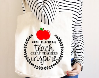 Teacher Tote Bag - Gift for Teacher - Canvas Bag