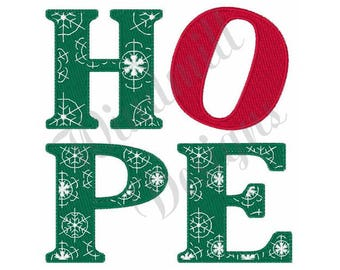 Christmas Hope - Machine Embroidery Design