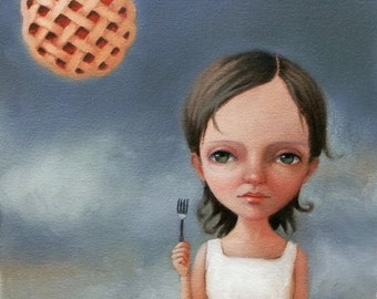 Pie in the Sky. Signed 8x10 Print of an Original Oil Painting by Liese Chavez