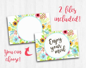 Printable Paper Placemats, Placemat Art, Birthday Placemat, Enjoy Your Meal, Paper Placemats Custom, Floral Placemat, Wedding Shower Napkins