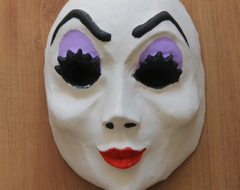Wicked Beauty Mask | Paper Mache Mask | Costume