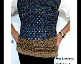 crochet sweater pattern, chunky pullover tunic, all adult sizes including plus size, quick and easy, #2065, crochet for women, teens,