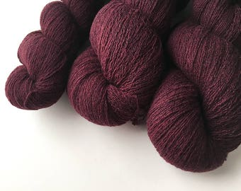 Reclaimed Lace Yarn - Wool - Burgundy