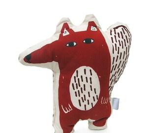 Fox plush,red fox, stuffed animal toy, woodland toy,toddler toy