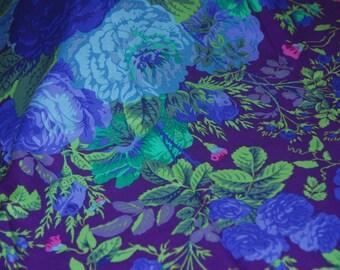 Kaffe Fassett Collective Fabric - Gradi Flora Purple- 100 PCT Quality Cotton Out of Print and Rare-Yardage