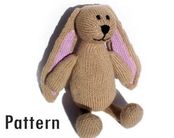 PDF Pattern - Humboldt the Fancy Bunny - Knitting