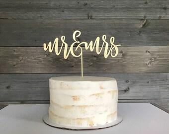 Cake topper, mr and mrs, gold cake topper, wedding cake topper