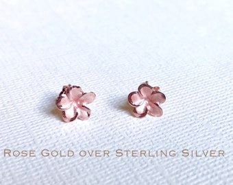 mother earrings gold stud jewelry flower natural pearl in of pink