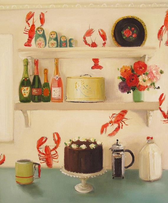 The Devil's Food Cake. Art Print