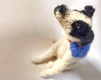 Finnigan, needle felted dog