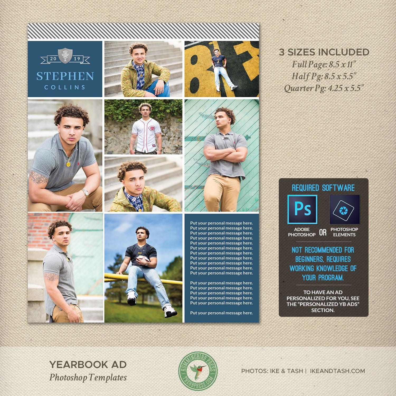 Senior Yearbook Ad Templates Graduation Dedication