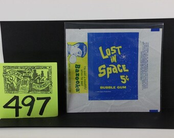 1960's Lost in Space 5 cent Gum pack wrapper