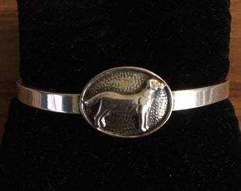 "Sterling Silver ""Lab"" cuff bracelet by H& H"