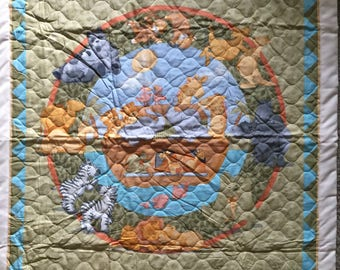 Noahs Ark animal baby quilt