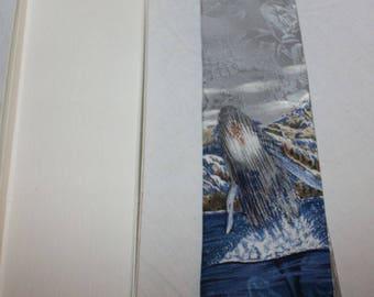 Vintage Wemco Endangered Species Blue Whale Silk Tie