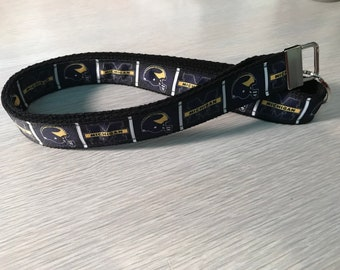 Lanyard NON- breakaway for adults In MICHIGAN College Spirit Go BLUE Themed