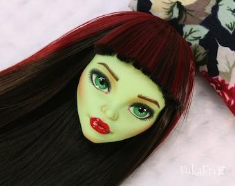 Monster High Custom Repaint Art doll OOAK Venus McFlytrap/Only the Head!