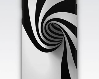 Case for iPhone 8, iPhone 6s,  iPhone 6 Plus,  iPhone 5s,  iPhone SE,  iPhone 5c,  iPhone 7  - Black & White Swirl Pattern iPhone