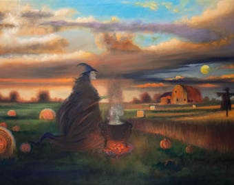 Mabon (Wiccan Autumnal Equinox) - oil painting