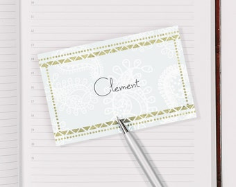 Name cards for table place settings at weddings, events & dinner parties