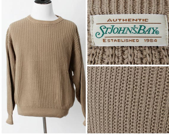 Vintage Men's Sweater - St. John's Bay Wool Blend 90s Retro Large Long Sleeve Fall Winter afBQWRTF