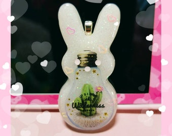 Wildnerness bunny necklace or keychain