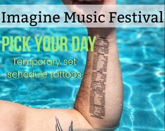 Temporary Set Schedule Tattoos - IMAGINE