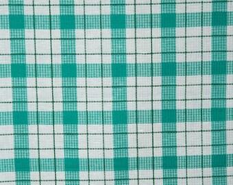 Green Toweling | Fabric |  Cotton Linen | Linen Fabric | Cotton Fabric | Linen Cotton Fabric | Cotton Blend Fabric | Waffle | Blend Fabric
