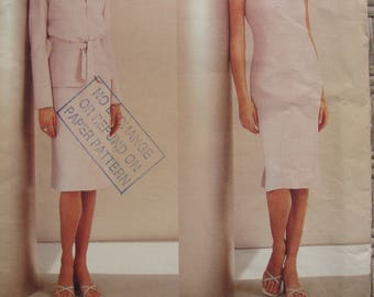 Uncut Vogue Paris Original Guy Laroche Designer Sewing Pattern no 2537 Multi Size 8 10 12 Jacket Dress 2001