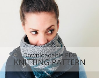 BRIER garter and slipped stitch cowl [downloadable PDF knitting pattern]