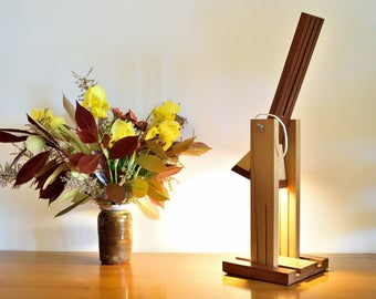 UBRITO Lamp in Larch and Iroko