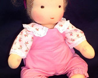 """16"""" Waldorf Baby Doll jointed (button-free) full kit + free pattern and instruction book (clothes not included)"""