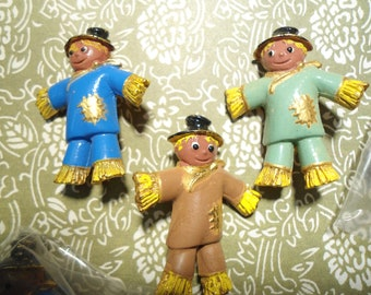3 Assorted Colors Scarecrow Pins Brooches