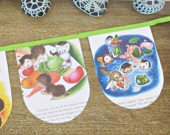 The Shy Little Kitten Bunting - Little Golden Book Banner - Cat Animal For Kids