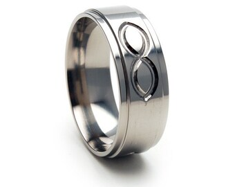 New Eternity Design Titanium Band - 8RC-SingleInfinity
