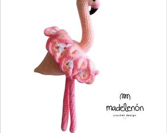 "Madelenon crochet pattern ""Maia"" flamingo dancer"