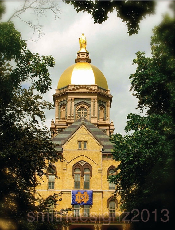 Notre Dame University The Golden Dome Photography Home