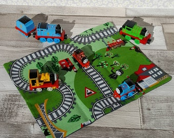 Limited edition! Train track play mat, fold away playmat, toy, travel kids holiday toy, fold up playmat game, imaginative play, on the go CE