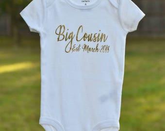 Big brother sister cousin pregnancy announcement bodysuit