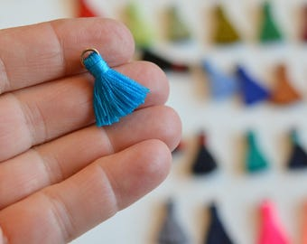 Tassels, Mini Tassels, Jewelry Tassels, Small Tassels, Earring Tassels, Tassels for Jewelry, Tassles, Boho, CHOOSE YOUR COLORS, Pack of 6
